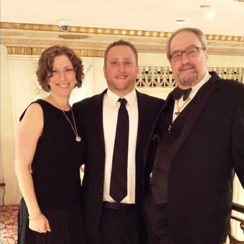 Richard Greenwood with his son, Dan, and daughter, Amy
