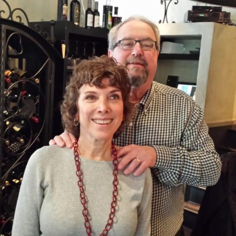 Richard Greenwood with his wife Trudi